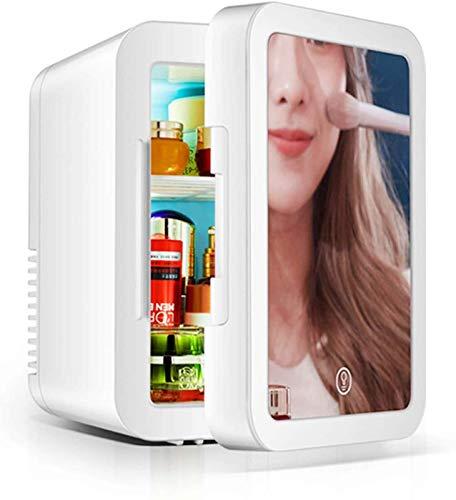 Refrigerador De Belleza De 10 Litros, Refrigerador De Maquillaje Con Espejo Pequeño, Productos Para El Cuidado De La Piel, Diseño De Espejo Y LED