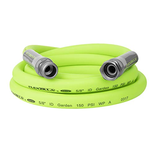 Flexzilla HFZG510YW Garden Lead-In Hose 5/8 In. x 10 ft, Heavy Duty, Lightweight, Drinking Water...