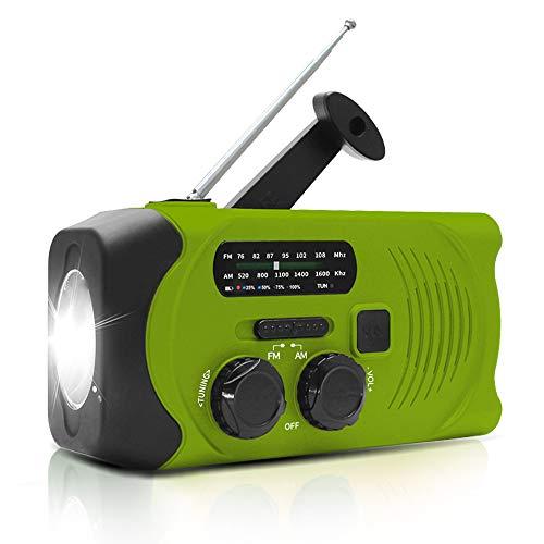 防災ラジオ 手回し充電 ソーラー充電 USB充電 大容量2000mAh 多機能 AM/FM SOSアラート アウトドア キャンプ 防災 台風 津波 地震 震災 停電緊急対策