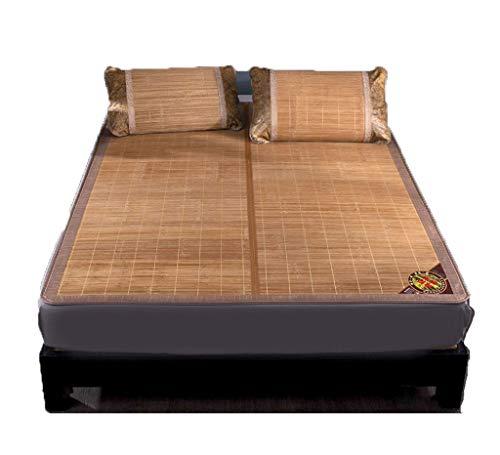 Dreiteilige Bambusmattenmatratze, faltbare kühle Sommer-Schlafmatte, Studentenwohnheim glatte Auflage Größe 0,9-1,8 m (Size : 180 * 200cm)