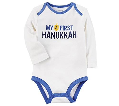 Carter's Baby My First Hanukkah Collectible Bodysuit, White, 3 Months