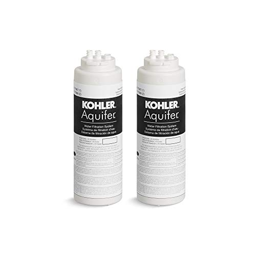 KOHLER K-77688-NA Aquifer Replacement Filter Cartridge (2 Pack)
