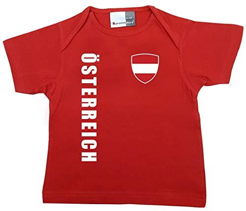 aprom Österreich Baby T-Shirt - Trikot - WM EM No.1 R ÖST (80/86)