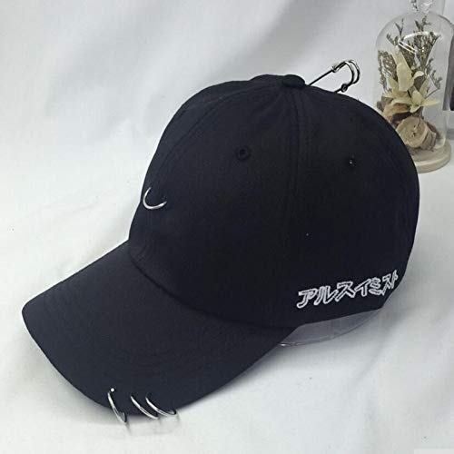 N/A Gorra Beisbol Anillo de perforación Creativo Gorra de béisbol Punk Bone Masculino Béisbol Hiphop Base Fashion Ball Caps Unisex