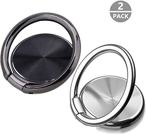 2 Pack Gaming Party Supplies with 360 Rotation Metal Ring Grip for Magnetic Car Mount Compatible with Smartphone Phone Ring Holder Finger Kickstand