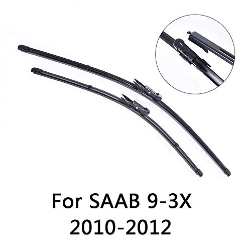 Liliguan ruitenwissers voor de voorruit, voor Saab 9 3 x 2010 2011 2012, zacht rubber, voor auto
