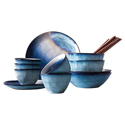 RKY Bol- Star série Nordic couverts ensemble de vaisselle en céramique plaque créative maison 4 personnes à domicile couverts 16 pièces /-/