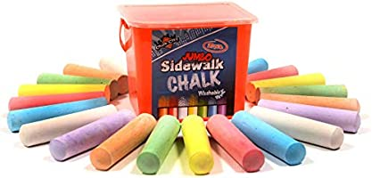 Chalk City Sidewalk Chalk, 20 Count, 7 Different Colors, Jumbo Chalk, Non-Toxic, Washable, Art Set
