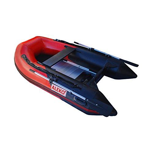 ALEKO BT250RBK 8.5 Foot Inflatable Boat with Aluminum Floor Heavy Duty...