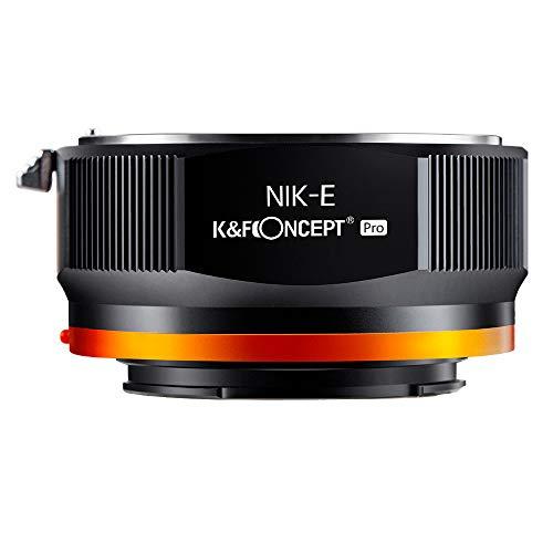 K&F Concept 2020進化版 マウントアダプター NIKON Fレンズ-SONY NEX Eカメラ装着 PROⅡ 艶消し仕上げ 反射防止 無限遠実現 M11105 メーカー直営店