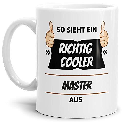 Tassendruck Berufe-Tasse so Sieht EIN Richtig Cooler Master aus Weiss/Job/mit Spruch/Kollegen/Arbeit/Geschenk-Idee/Büro