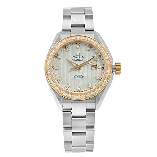 Omega Seamaster Aqua Terra 231.25.34.20.55.003acero y diamantes reloj de pulsera de mujer