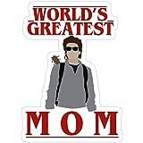Jess-Sha Store 3 PCs Stickers Steve Harrington - World's Greatest mom, Stranger Things Sticker for Laptop, Phone, Cars, Vinyl Funny Stickers Decal for Laptops, Guitar, Fridge