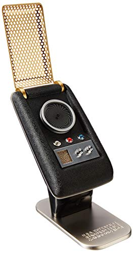 The Wand Company Star Trek Communicator - Connect To Your Phone Via Bluetooth To Answer Phone Calls Or Play Music On This Sleek Zinc & Metal Replica