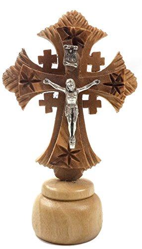 Jesus Cross Kruzifix schnitzte Olive Holz Statue Figur aus Jerusalem Heiliges Land
