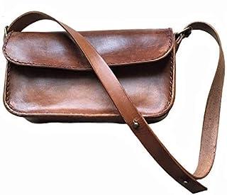 VINTAGE - Borsa Clutch in Pelle, Regali Handmade, Borsa Donna, Borsa Retro', Borsa Vintage, Borsa Handmade