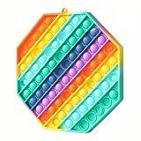 Fettinow XXL Pop Its Groß Fidget Toy It - Big Pop Its Jumbo Pop XXXL - Riesen Popits Fidget It Toy Rainbow - Sensorisches Fidget It Push & Pop Bubble (Regenbogen)