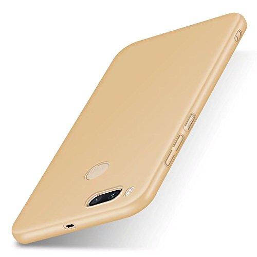 """XMT Protector de Pantalla Compatible con Xiaomi Mi 5X,Xiaomi Mi A1 5.5"""", Cubierta Delgado Caso de PC Hard Gel Funda Protective Case Cover para Xiaomi Mi 5X/Mi A1 Smartphone (Oro)"""