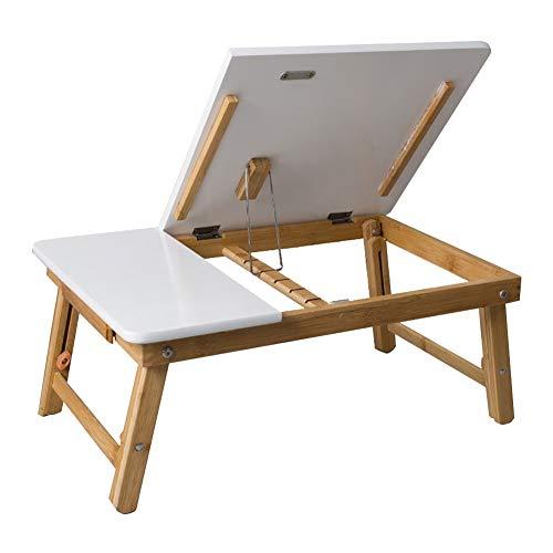 YAMEIJIA Multifunctionele bijzettafel Opvouwbare tafel hele bamboe laptop tafel