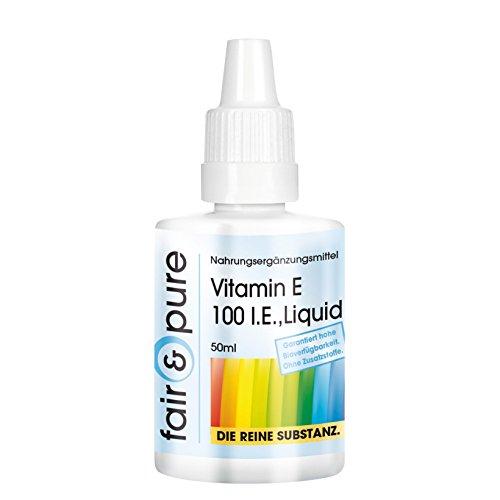 Vitamina E líquida pura - Aceite de Vitamina E 100 U.I. - D-alfa-tocoferol Natural - 50ml