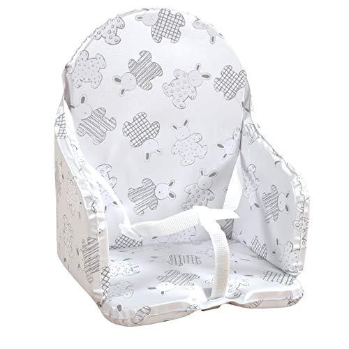 Looping - Cojín para silla de bebé, diseño de conejos Multicolor Lapin pyjama