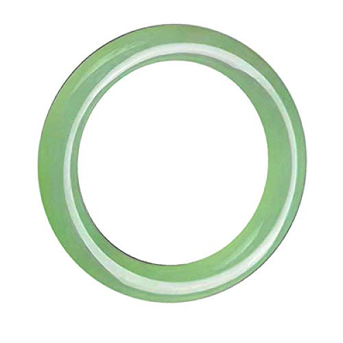 Kunze Pulsera de Jade Natural, Pulseras de Jade Verde de Colores teñidos apilables de eternidad de Piedras Preciosas Simples para Mujeres, Regalos de Amuleto de la Suerte