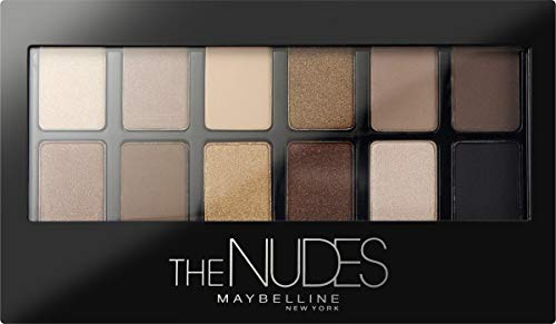 Maybelline New York Lidschatten Palette, The Nudes Palette, 12 Farben