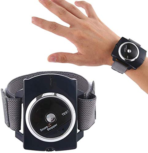 LILAODA Anti-Schnarch-Handgelenkband - Intelligenter Anti-Schnarch-Biofeedback-Sensor - Schnarchschalldämpfer - Effektive Schnarchstopper-Lösung (blau) Perfect