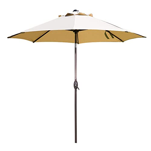 Abba Patio 9 Feet Patio Umbrella Market Outdoor Table Umbrella with Auto Tilt and Crank,