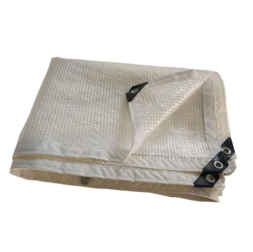 JHNEA Lona de protección Transparente, con Ojetes 5 Mil Impermeable Plástico Lonas Gran Capacidad Prueba de Lluvia,Clear_1x4m