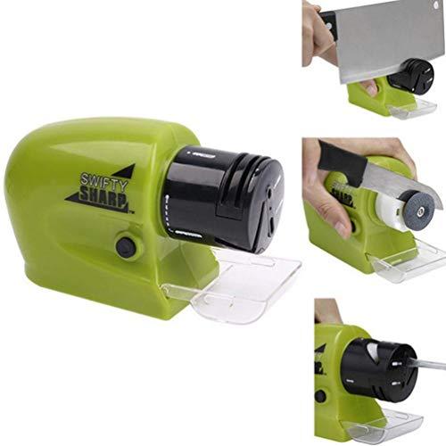 UNOIF Couteau électrique Sharpener Professionnels Couteaux de Poche Whetstone Tournevis Ciseaux Outils Aiguiser Accessoires de Cuisine Maison,Vert