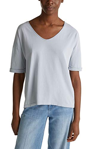 ESPRIT Damen 040EE1K308 T-Shirt, 445/LIGHT Blue Lavender, M