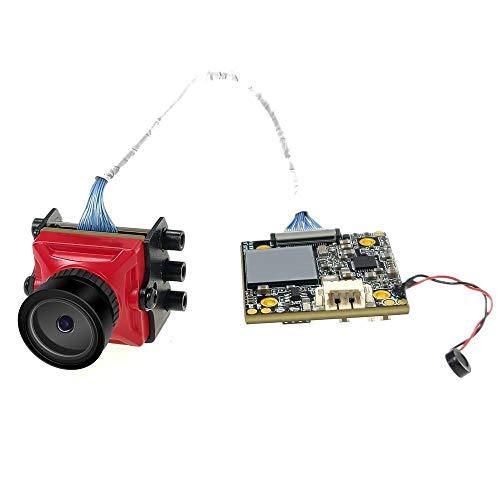 Ryyland-Home Mini cámara Mini 1080p 60fps FOV 155 Grado Súper WDR HD OSD FPV Cámara Mic for el RC Aviones no tripulados (Color : Red, Size : 1080p 60fps)