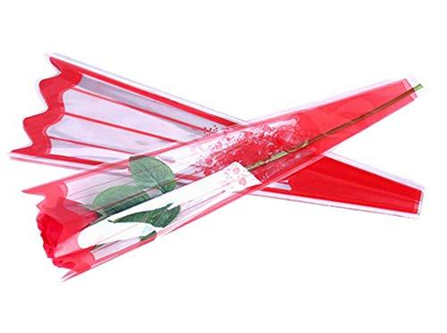 100 pcs unique rose sacs d'emballage bouquet de fleurs sacs d'emballage #40