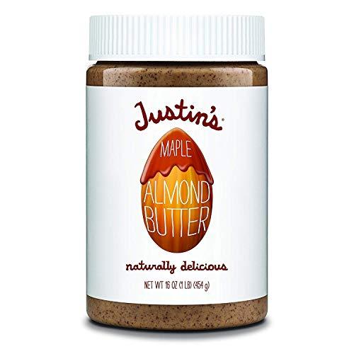 Justin's Maple Almond Butter, No Stir, Gluten-free, Non-GMO, Responsibly Sourced, 16oz Jar