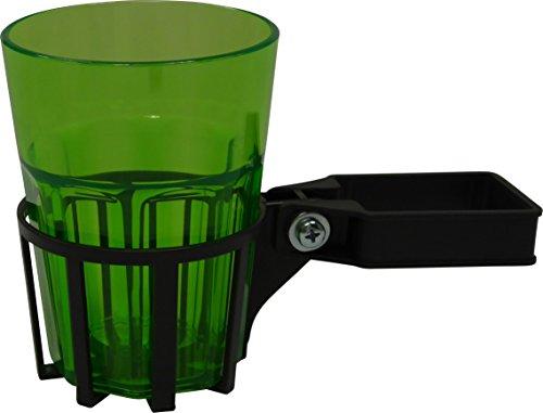 Angerer Getränkehalter für Hollywoodschaukel Vierkant eisengrau, inkl. Becher grün, 980/0001
