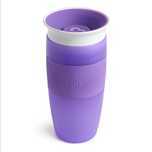 Munchkin Miracle 360° Vaso de Entrenamiento, Morado (Purple), 414 ml