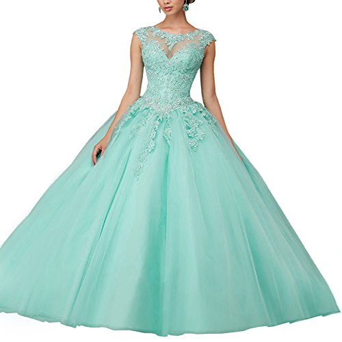 Abaowedding Women's Lace Up Sweet 15 Quinceanera Ball Gown Evening Prom Dresses