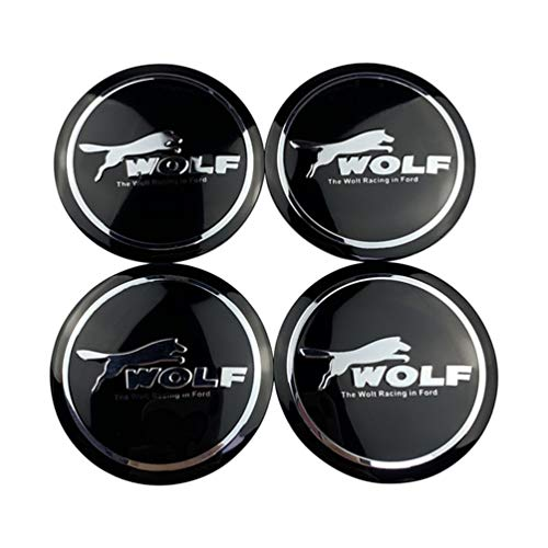 Para Ford Focus 3 2 Fiesta Kuga MK7 Mondeo Fusion cubiertas centrales cubo rueda universales,cubiertas emblema insignia tapa cubo llanta rueda coche,accesorios diseño coche 4 piezas