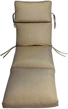 Comfort Classics Inc. Sunbrella Outdoor CHANNELED Chaise Cushion (Taupe Rib)