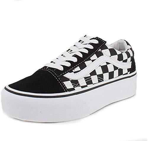 Vans Damen Old Skool Platform Sneaker, Schwarz Black White Y28, 42 EU