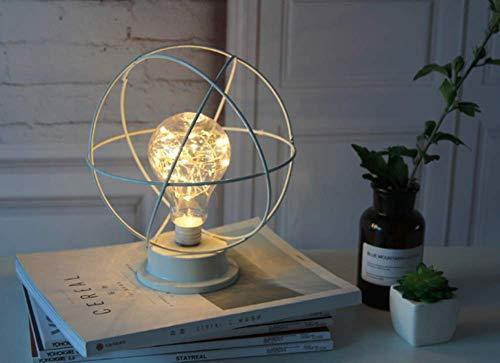 Diamond Ijzeren Tafellamp, Scandinavische Stijl Ijzerdraad Tafellamp Nachtkastje lamp op Batterijen voor Slaapkamer, Woonkamer, Bar, Hotel