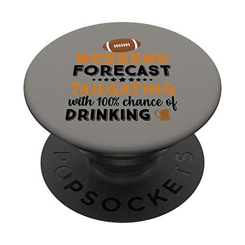 American Football Party Essen Sport Spaß Geschenk PopSockets PopGrip: Ausziehbarer Sockel und Griff für Handys/Tablets mit Tauschbarem Top