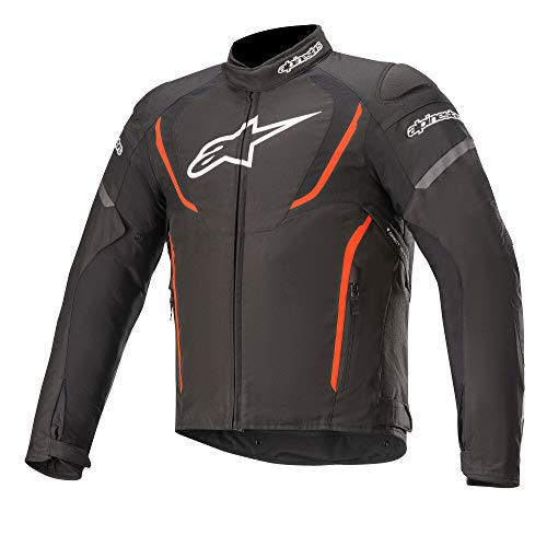 Alpinestars Chaqueta moto T-jaws V3 Waterproof Jacket Black Red Fluo, BLACK/RED/FLUO, XL