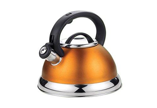 KH-3246 Wasserkessel aus Edelstahl, für Induktion und alle sonstigen Herdarten geeignet, 3 Liter Fassungsvermögen, in 4 verschiedenen Farben erhältlich Orange