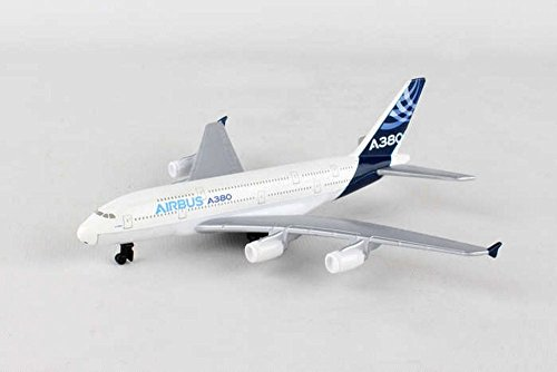 Showcasts Airbus A380 Single Plane, White - Daron RT0380 - Diecast Model Airplane Replica
