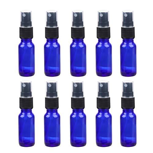 Pixnor Botella de Spray de Vidrio de 10 Piezas Botella de Atomizador Pequeña de 15 Ml Contenedor de Spray de Aceite Esencial para Viajes Y Bricolaje