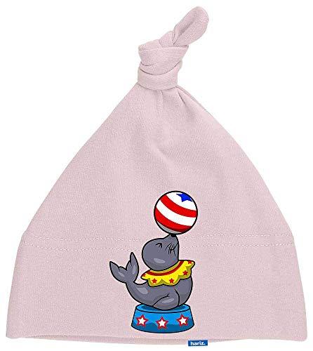 Hariz - Gorro para bebé, diseño de león de mar, circo, animales, zoo Plus, tarjetas de regalo Algodón de azúcar rosa.