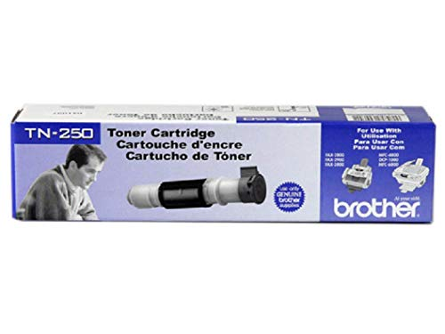 Brother TN-250 DCP-1000 FAX-2850 8070 9070 MFC-4800 6800 9030 9070 9160 PPF-2800 2900 3800 Toner Cartridge (Black) in Retail Packaging