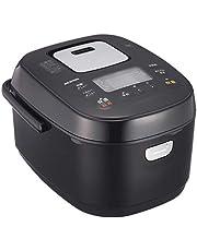 アイリスオーヤマ IH炊飯器 5.5合 IH式 銘柄炊き分け機能 極厚火釜 玄米 ブラック/ホワイト